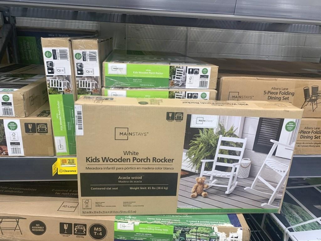 Mainstays Kids Outdoor Wood Porch Rocker - White
