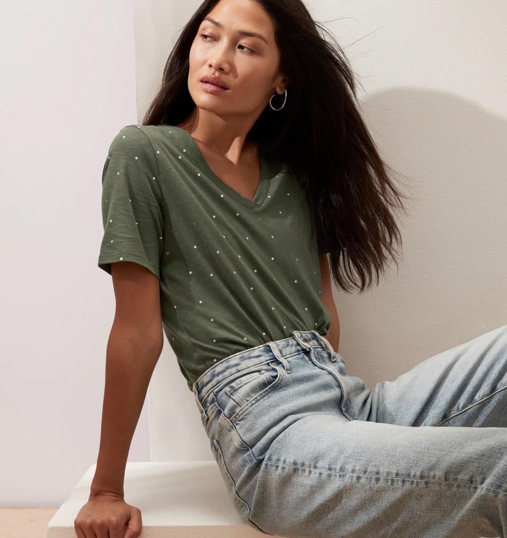 Malibu Slub Tee on model