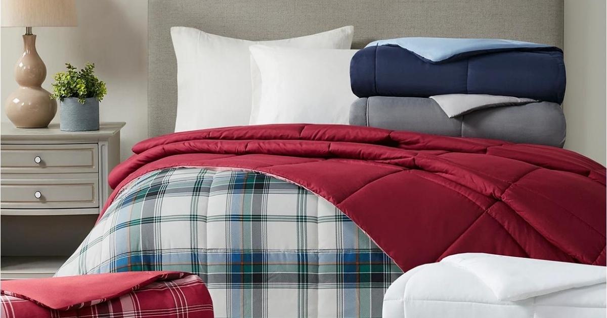 Martha Stewart Collection Essentials Reversible Down Alternative Comforter