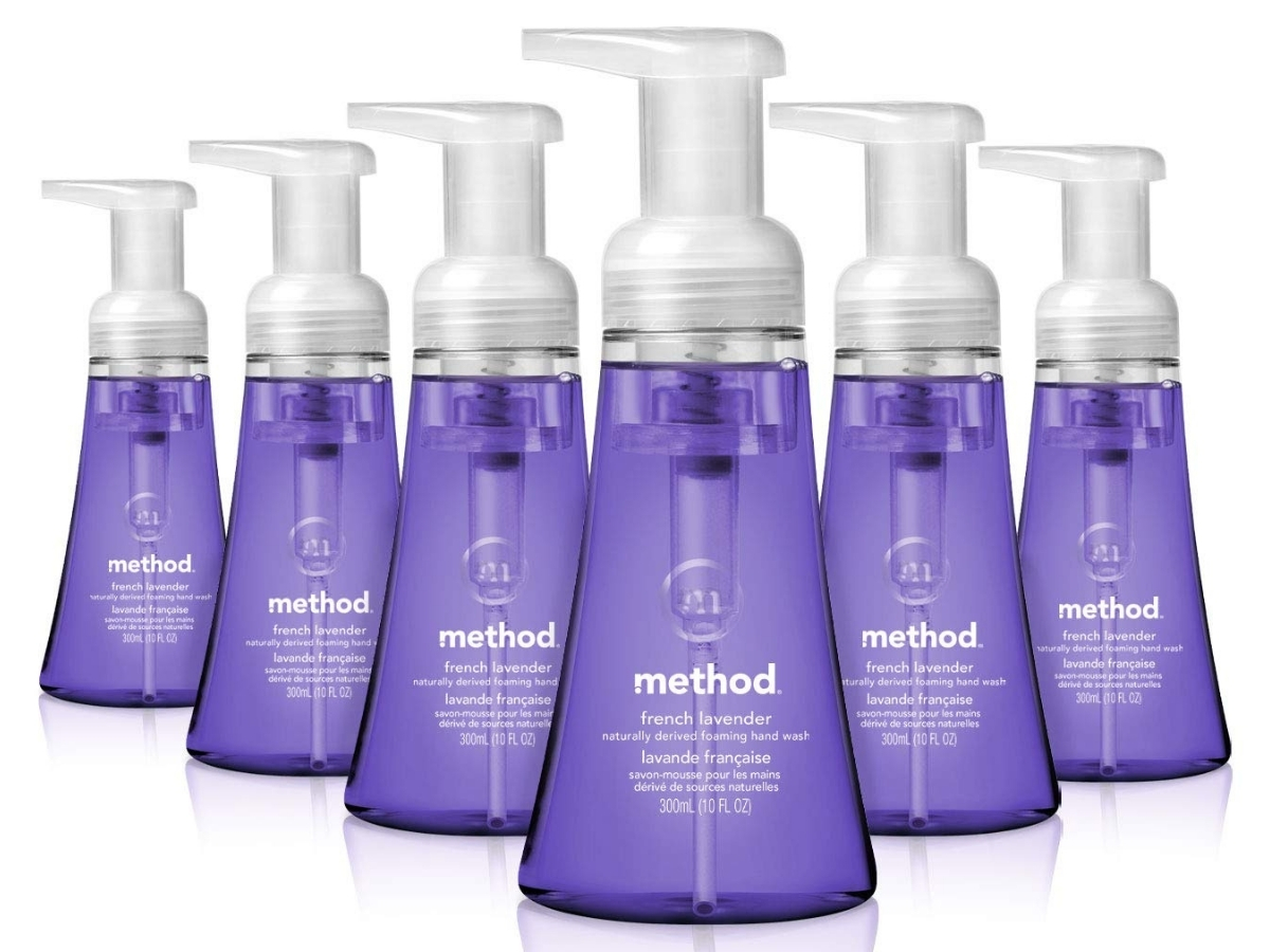 Method Foaming Hand Soap French Lavender 6-Pack
