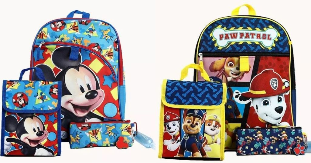 Mickey and Paw Patrol Kids Backpack Sets