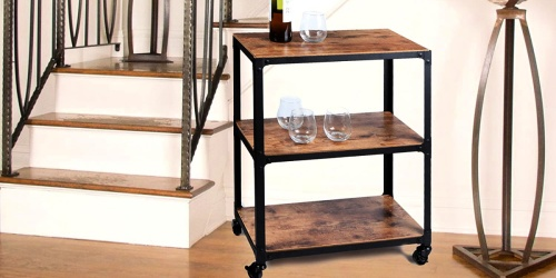 Industrial 3-Tier Utility Cart Only $29.99 Shipped on Amazon (Regularly $102)