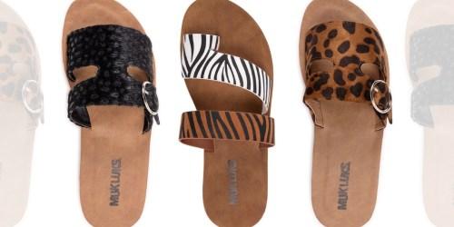 Muk Luks Women's Sandals Only $9.99 on Zulily (Regularly $40)
