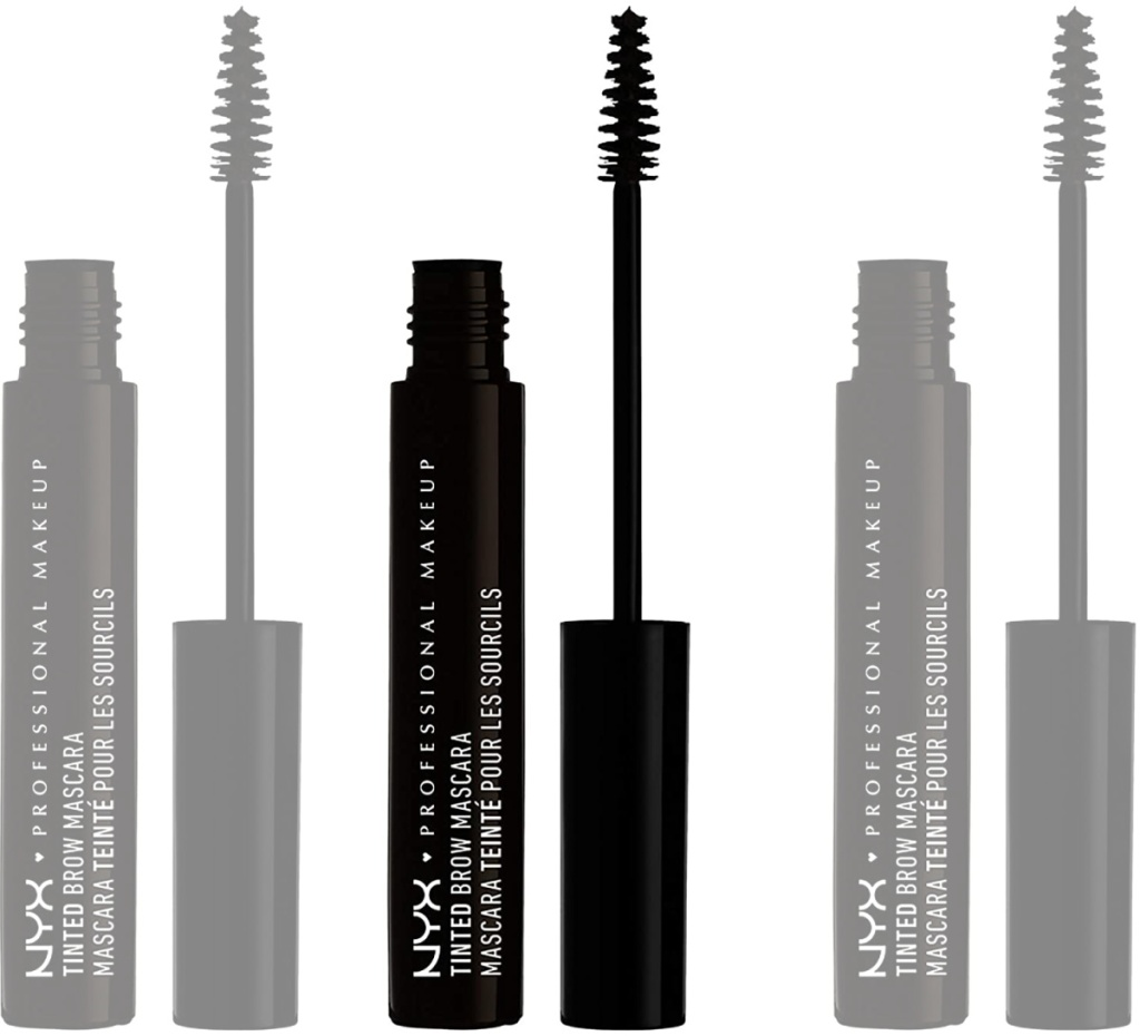black tinted mascara for brows in tube