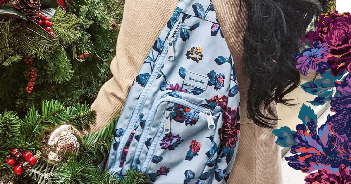 Neon Blooms Sling Backpack