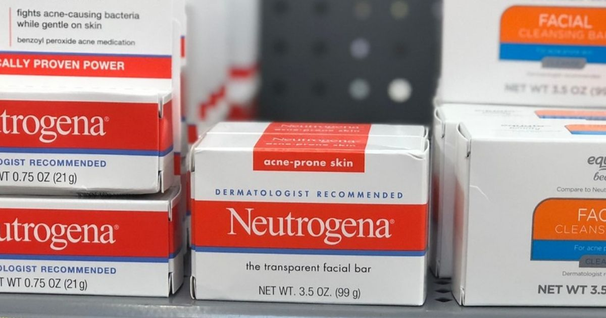 Neutrogena acne bar on store shelf