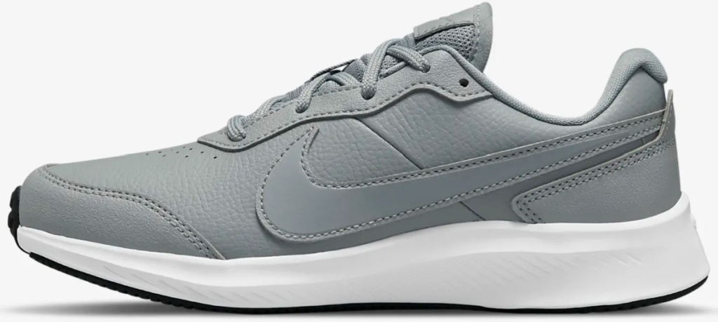 grey nike kids running shoes