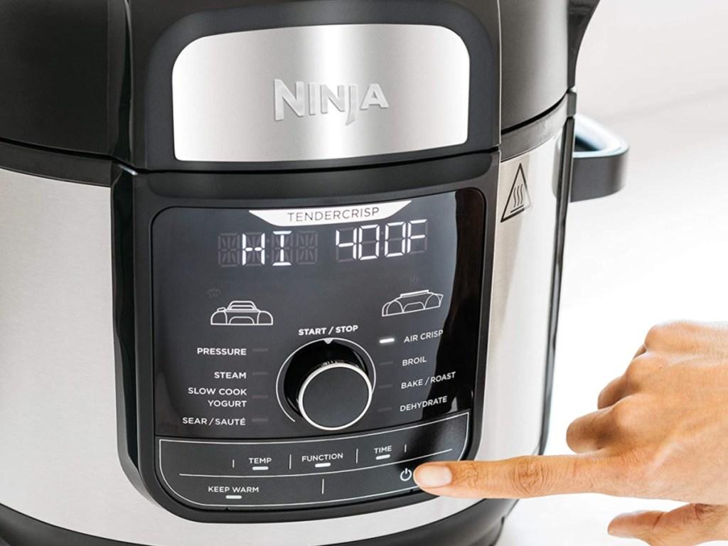 Ninja Foodi 8-Quart 9-in-1 Deluxe with finger
