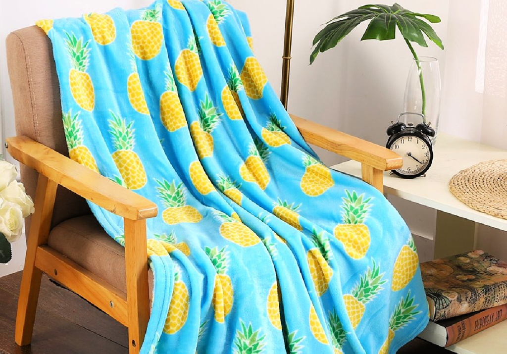Noble House Teal Pineapple Throw