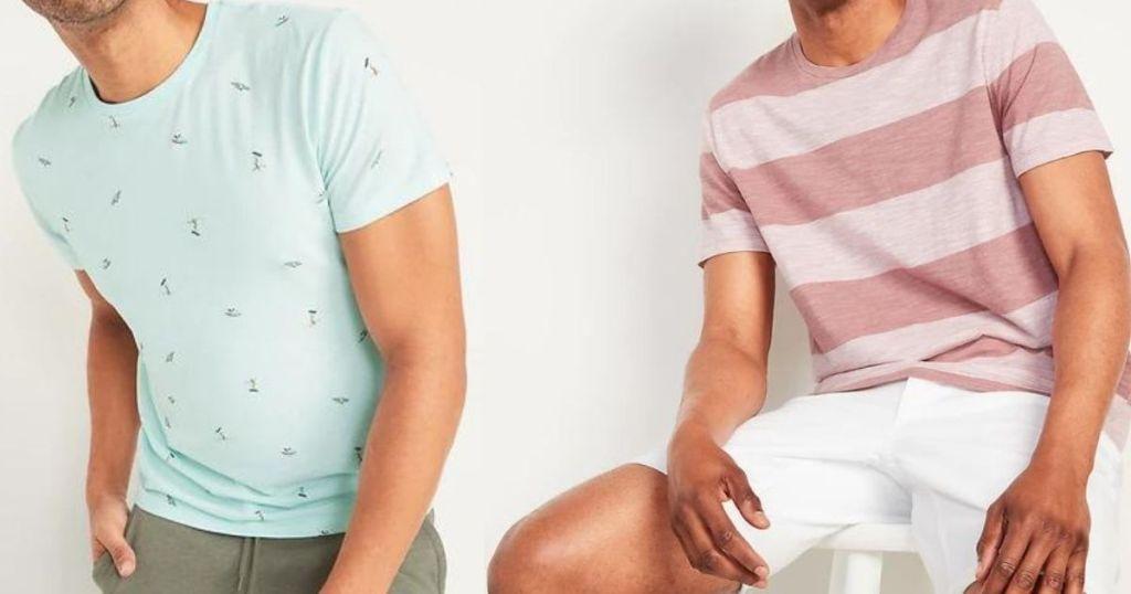 two men wearing tees