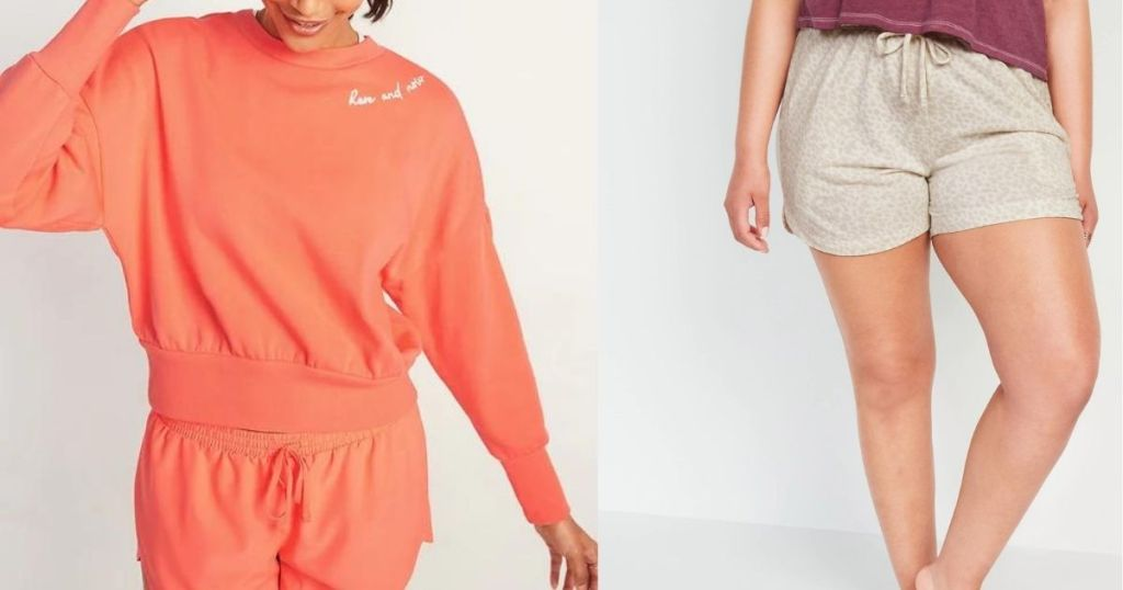Old Navy Sweatshirt and Shorts