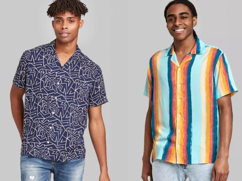 2 men wearing button down shirts