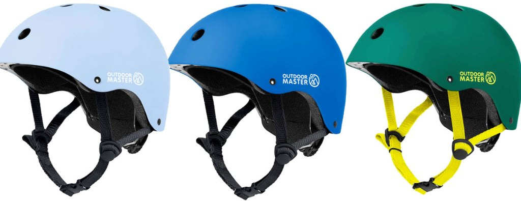 three kids skateboard helmets