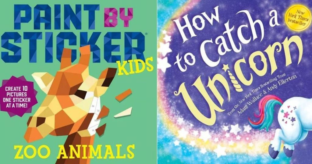 Paint by Sticker and How to Catch a Unicorn Books