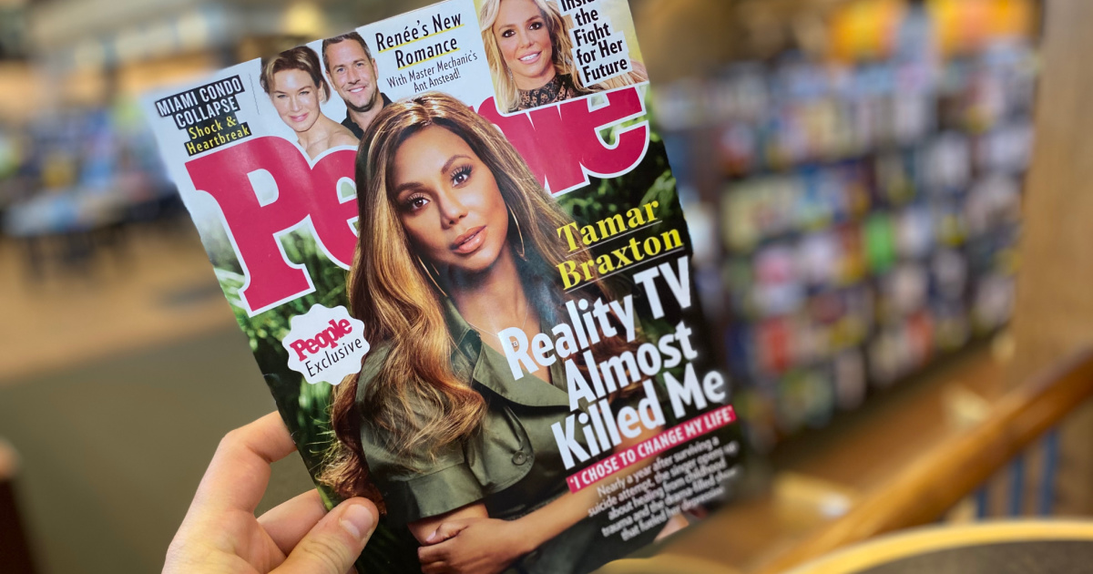 People magazine featuring reality tv star on cover
