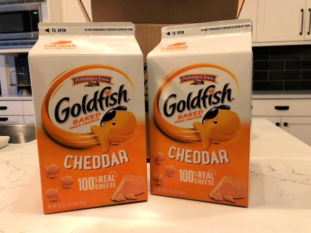 Pepperidge Farm Goldfish Cheddar Crackers 30oz Carton 2-Pack