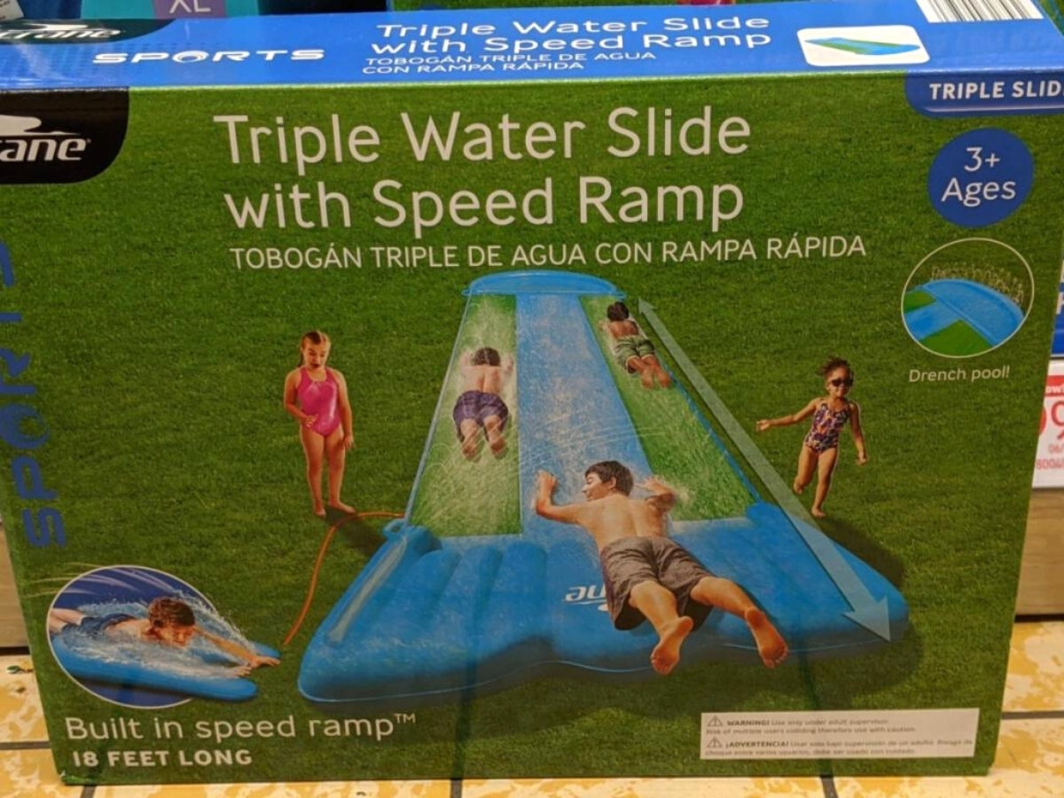 Triple Water Slide with Speed Ramp at ALDI