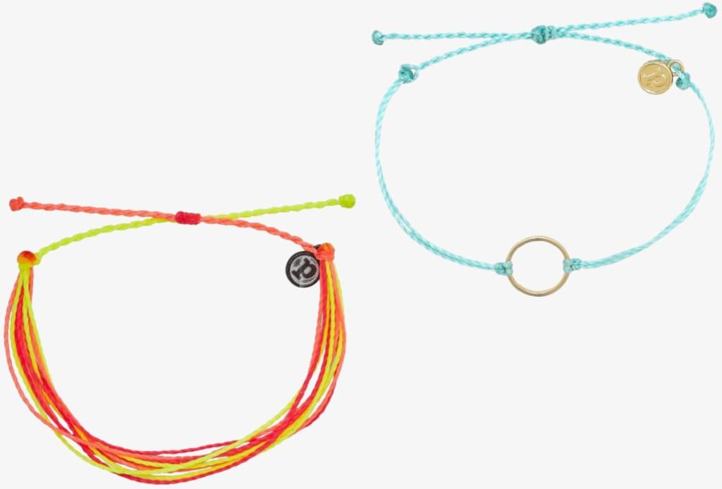 two styles of bracelets