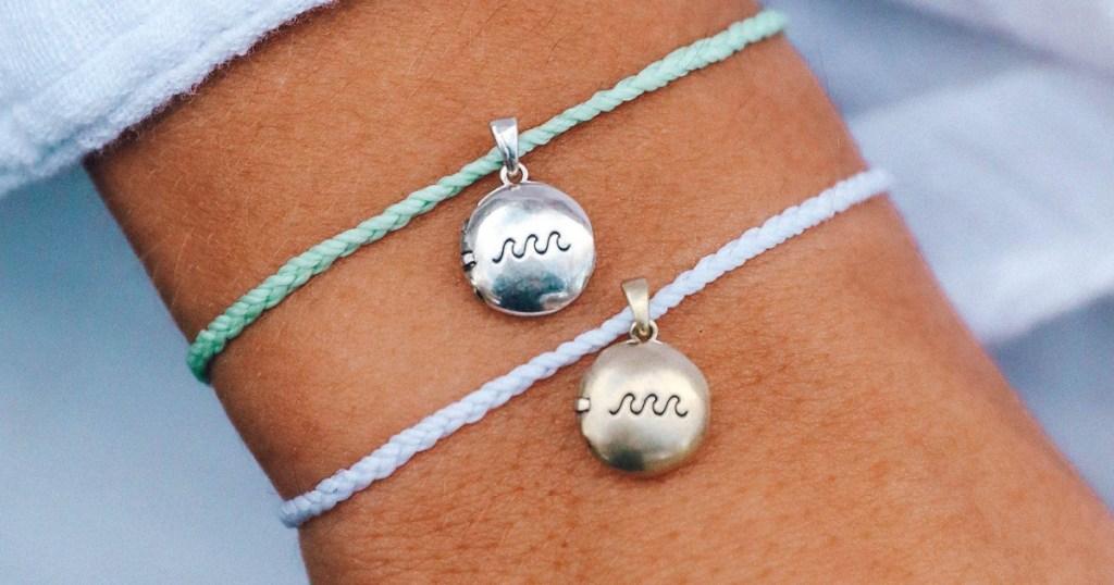 Wave themed charm bracelet