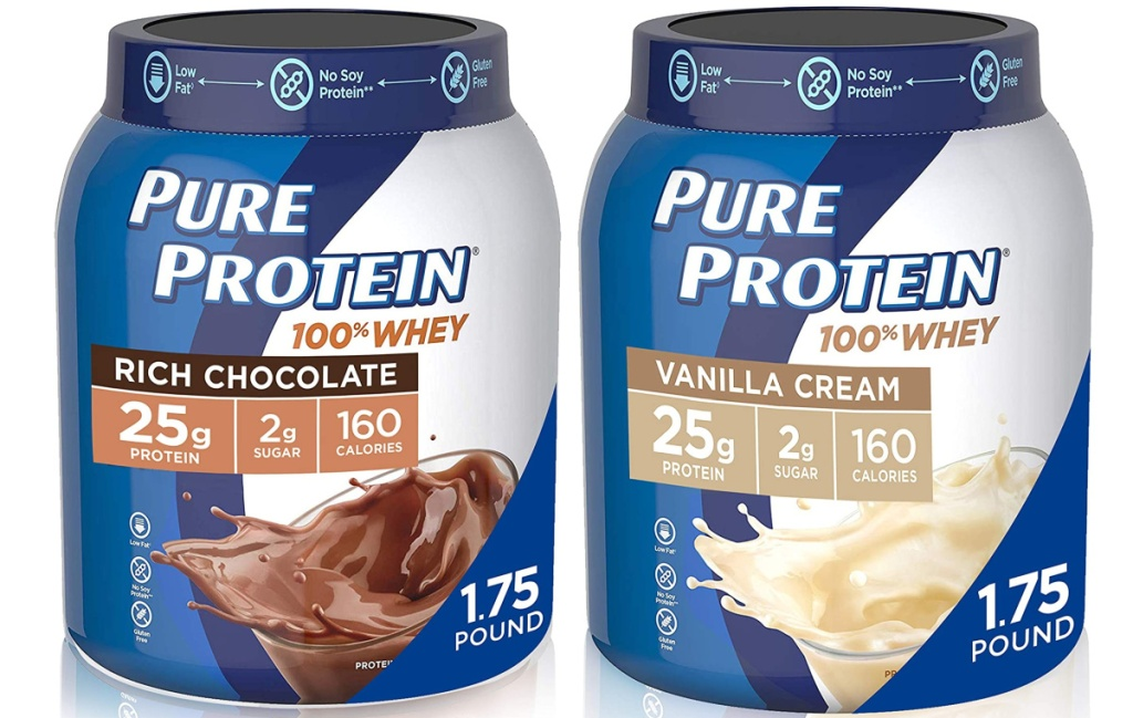 Pure Protein Whey Protein Powder 1.75-lb Tub