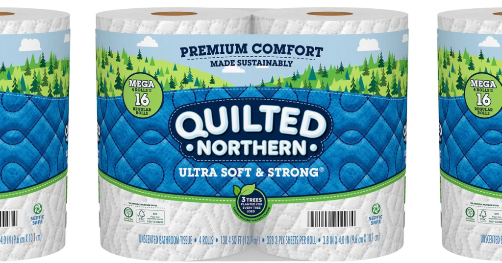 quilted northern mega roll 4 pack