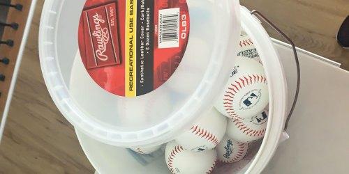Rawlings Baseballs 24-Count Bucket Just $29.99 Shipped on Amazon (Regularly $50)