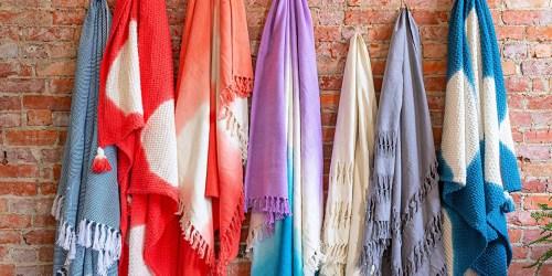 Textured Cotton Throw Blankets w/ Tassles from $15 on Amazon