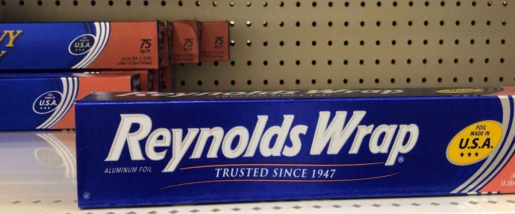 Reynolds Foil on a shelf