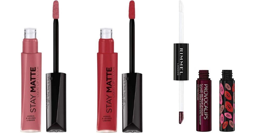 three Rimmel Lip Cosmetics