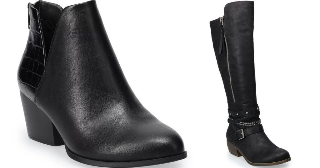 two black boots