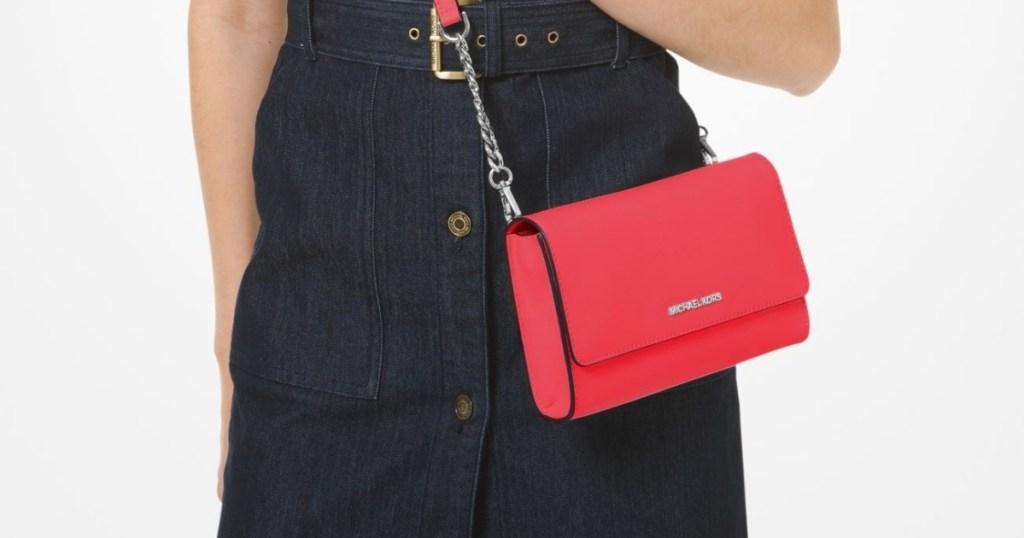 Saffiano Leather 3-in-1 Crossbody