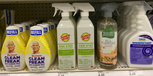 Scotch-Brite Disinfectant & Cleaner Only 74¢ at Target After Cash Back | Just Use Your Phone