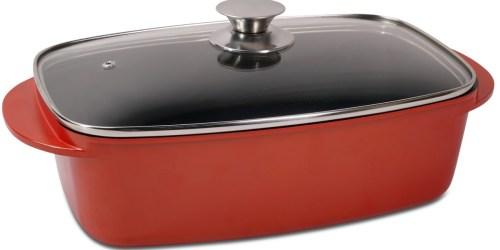 Nonstick 5.5-Quart Roaster w/ Lid Only $26.99 Shipped on Macys.com (Regularly $100)