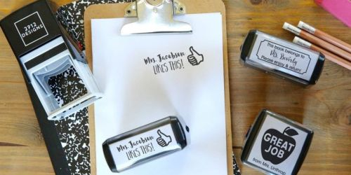 Custom Self-Inking Teacher Stamps Only $14.99 Shipped (Regularly $40)   Great Gift Idea