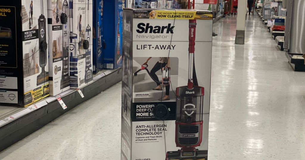 vacuum in box in middle of aisle