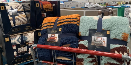 Pendleton Sherpa Fleece Twin Size Blankets Just $19.99 at Costco
