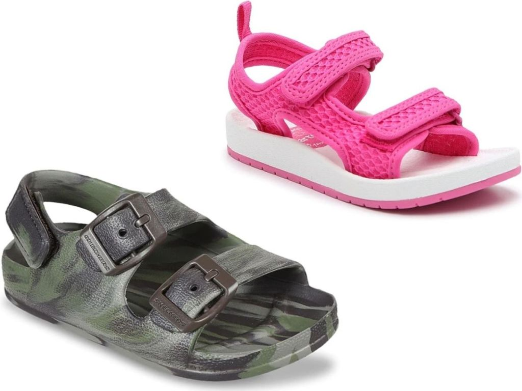 Skechers and Carters kids sandals