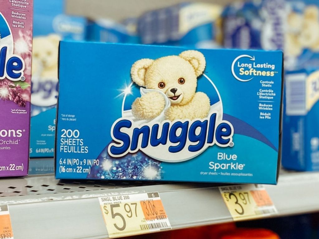 Box of Snuggle Dryer Sheets