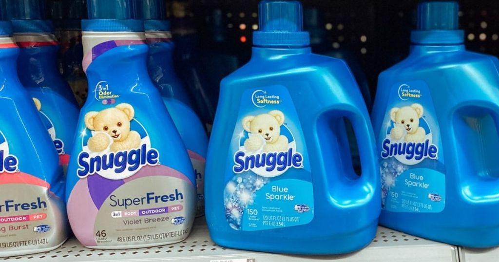 Snuggle Fabric Softeners on store shelf
