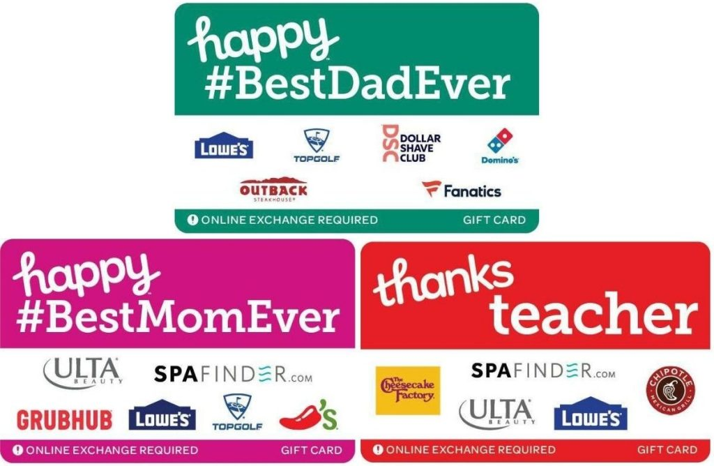 Specialty Gift Cards Target