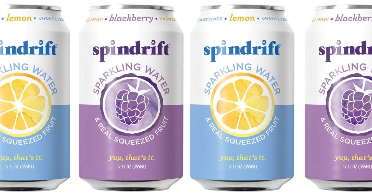 Spindrift Sparkling Water Blackberry & Lemon 48-Count