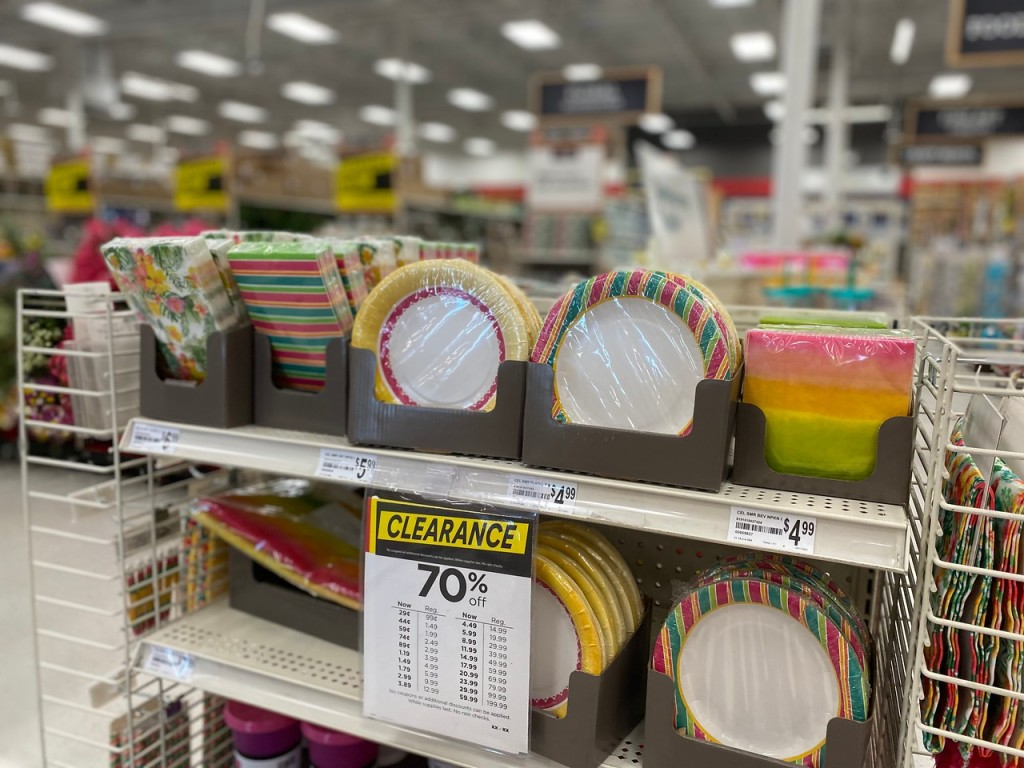 Spring disposable Dishes at Michaels