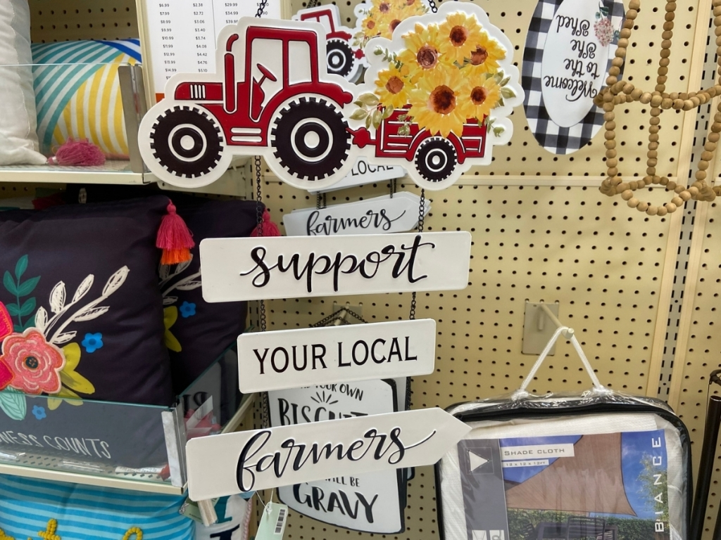 Support Your Local Farmers Metal Wall Decor