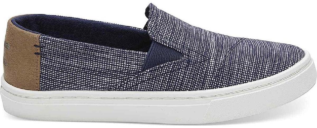 striped blue toms shoes