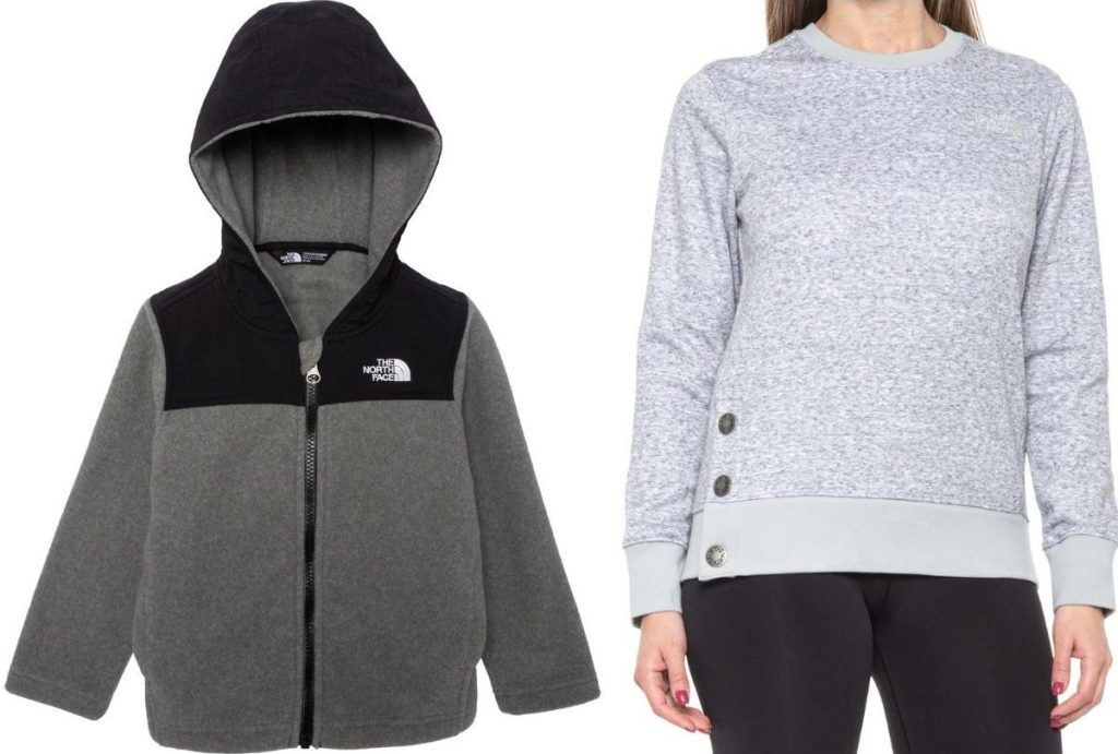 The North Face Toddler Jacket and Women's Crewneck