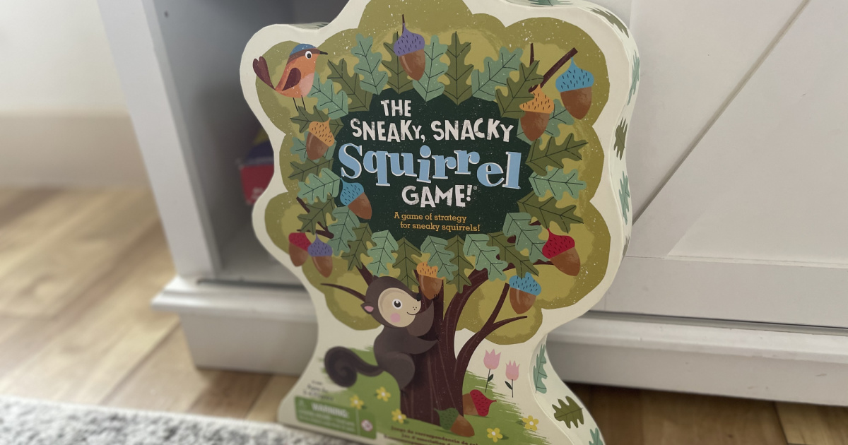 toddler squirrel game in box in home