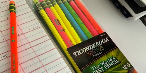 Ticonderoga Neon Pre-Sharpened Pencils 18-Pack Only $4.49 on Amazon