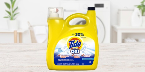 Tide Simply + Oxi Laundry Detergent 150oz Bottle for $8.99 on Amazon