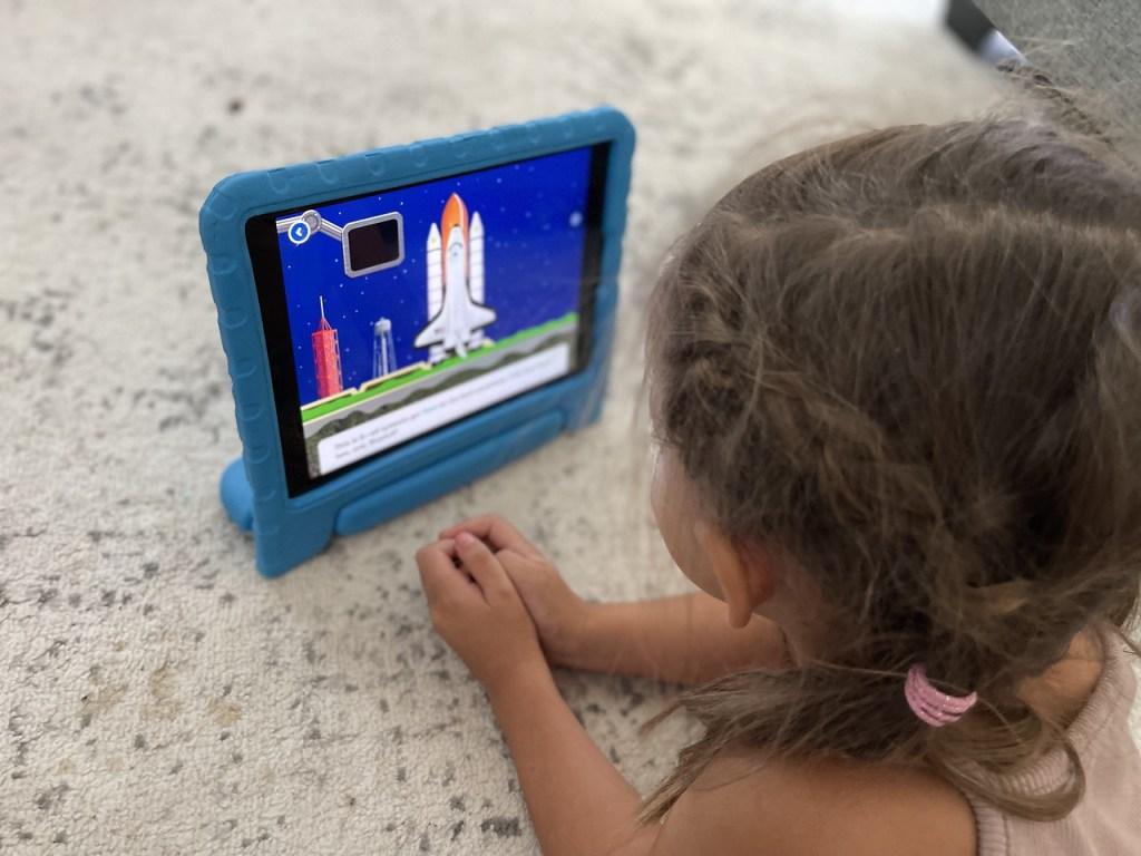 Toddler Playing Homer Learning App