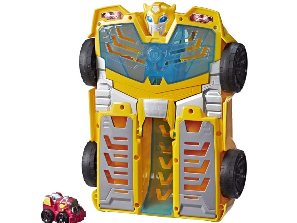 "Transformers Playskool Heroes Rescue Bots Academy Bumblebee Track Tower 14"" Playset"